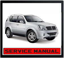 SSANGYONG REXTON I & II 2001-2010 REPAIR SERVICE MANUAL IN DVD