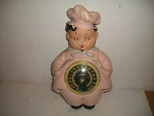 Vintage 1950s CHEF Chalkware Thermometer Bello Stern Pittsburgh Statuary Lamp Co