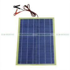 20W Epoxy Solar Panel Solar Module W/2M Cable & Battery Clip for Car Outdoor