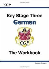 KS3 German Workbook with Answers (Pt. 1 & 2) New Paperback Book CGP Books