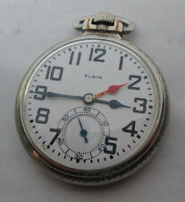Antique 16s B.W. Raymond 21J Railroad Hands: Serviced, Oil Co. Employee Watch