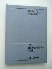 Das druckgrafische Werk 1954-1977 Grafik
