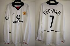 *XL* 2002/03 MANCHESTER UNITED Away BECKHAM #7 CL Football Shirt