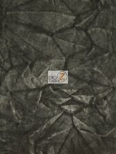 "CRUSH FLOCKING UPHOLSTERY VELOUR VELVET FABRIC - Charcoal - 56/57"" WIDE BY YARD"