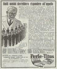 W4989 Perle TITUS - Pubblicità del 1934 - Vintage advertising