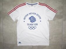 Adidas Rio 2016 Olympics Team GB England Great Britain White SMALL Shirt USED