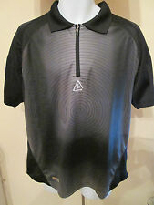 LeCOQ SPORTIF - BLACK/GREY POLO SHIRT SIZE SMALL