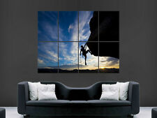 ROCK CLIMBING EXTREME SPORTS  ART WALL PICTURE POSTER  GIANT !!