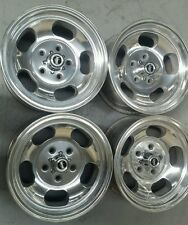Aunger 5 slot 14 x 7 suit Holden HK HT HG Torana polished new nuts/caps