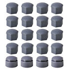 16x 17mm Wheel Lug Nut Bolt Cap & 4x 25mm Locking Types Cover for VW Audi Skoda