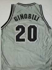 MANU GINOBILI #20 SAN ANTONIO SPURS GRAY NBA JERSEY YOUTH LARGE