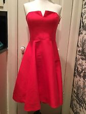 HALSTON  HERITAGE  STRUCTURED HI-LOW  CORAL COCKTAIL DRESS, SZ 6, NWT $445
