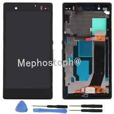 For Sony Xperia Z LT36i LT36H C6603 Full Black Frame+LCD display+touch screen