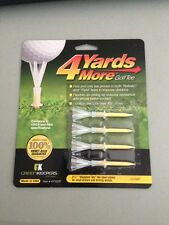 "4 Four Yards More 2 3/4"" Golf Tees 4 pack YELLOW"