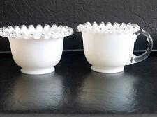 Fenton Rare Silver Crest Cream and Sugar Set