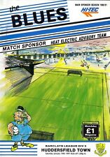 Southend United  V Huddersfield Town 1991 , Football League Division 3 Programme