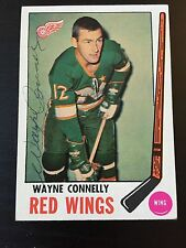 WAYNE CONNELLY SIGNED 1969 HOCKEY CARD,Detroit Red Wings,Blues,Bruins,Canadiens