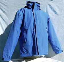 Lands End Hooded Jacket Zip Front Winter Coat Parka Small 34-36 Blue Insulated