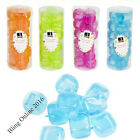 TUB OF 18 REUSABLE PLASTIC ICE CUBES BAR DRINKS COCKTAIL PARTY FREEZER BLOCKS