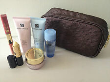 ESTEE LAUDER Set-CREAM+LOTION+ LIPS GLOSS+CLEANSER+COSMETIC/MAKEUP BAG