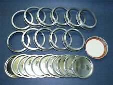 Ball Brand Wide Mouth Canning Jar Metal Lids and Bands #40000/Item 1177, QTY 12