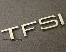 TFSI Chrome Badge Emblem Decal Sticker Audi Seat Boot Rear Trunk Tailgate Back *