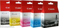 5 x Canon Original OEM Pixma (PGI-5PK & CLI-8) Ink Cartridges For iP5200R, 5200R