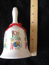 "Collectible China Christmas Bell ""Joy to our World"" Decorative CL13-45"