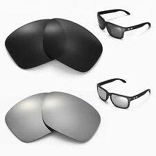New Walleva Polarized Black + Titanium Lenses For Oakley Holbrook