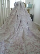 LAURA ASHLEY CURTAINS shabby COTTAGE chic PICARDI French floral TOILE *RARE*