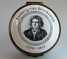 CARTIER HINGED Battersea ENAMEL TRINKET BOX - Ludwig Van Beethoven No. 448