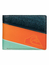 NEW QUIKSILVER MENS POMBOS ORANGE STRIPE FAUX LEATHER WALLET/PURSE 6W/3307/NKR0