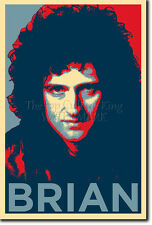 Brian May Art Photo Print (OBAMA HOPE Parodie) Poster Cadeau queen