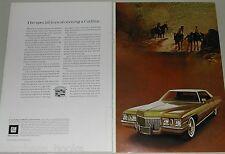 1972 Cadillac 2-page ad, Cadillac Sedan deVille