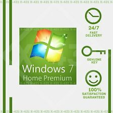 WINDOWS 7 Home Premium 32/64-BIT, OEM  Genuine License Product Key mboard