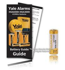 Yale Alarm HSA3060 Remote Control Replacement 12v 23A Battery KIT ( Inc Guide )