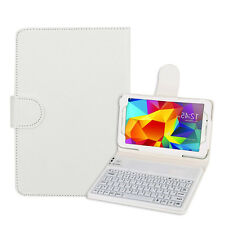 "Bluetooth Keyboard Silicon Stand Case Cover For Samsung Galaxy Tab 4 7"" T230 WH"