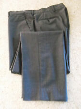 "Paul Smith Gray Flat Front Dress Pants Size 37""W/30""L made in Italy"