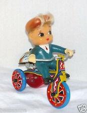Working 1950-60s Boys or Girls Vintage Wind-up Mechanical Riding Boy Korea!
