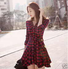 Women Summer Casual Long Sleeve Evening Party Cocktail Short Mini Dress77 Size-L