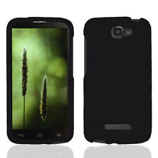 BLACK HARD PLASTIC SKIN  CASE COVER for Alcatel One Touch Fierce 2 II ACCESSORY