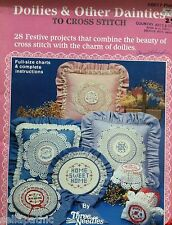 28 Cross Stitch Patterns for Crocheted Doilies 1985 Christmas Grandma