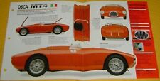 1954 OSCA MT4 Inline 4 Cylinder 1453cc 110hp 2 Weber Carbs info/specs/photo
