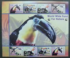 GUYANA 2003 WWF Tukan Vögel Birds 7626-29 Kleinbogen ** MNH