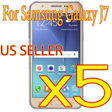 5X New Samsung Galaxy J7 HD LCD Clear Screen Protector Saver Film US SELLER X5