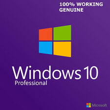 MICROSOFT GENUINE WINDOWS 10 PRO 32 / 64BIT OEM ORIGINAL LICENSE KEY SCRAP PC