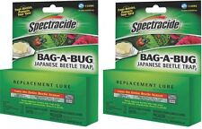 2 Pack SPECTRACIDE JAPANESE BEETLE TRAP BAG A BUG REPLACEMENT LURE BAIT 6541692