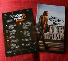 2 promo flyers  PISTOIA BLUES + San Severino R. Ford - Mumford -  Dream Theater