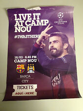 FC Barcelona V Manchester City 2015 cartel UEFA Champions League CAMPIONS final