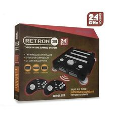 Hyperkin RetroN 3 Console / System for NES / SNES / Genesis 2.4Ghz Edition Black